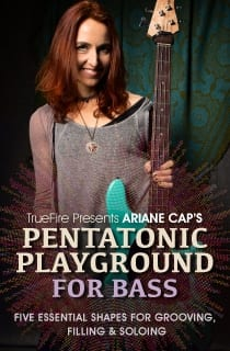 Pentatonic Playground for Bass DVD TrueFire Ariane Cap
